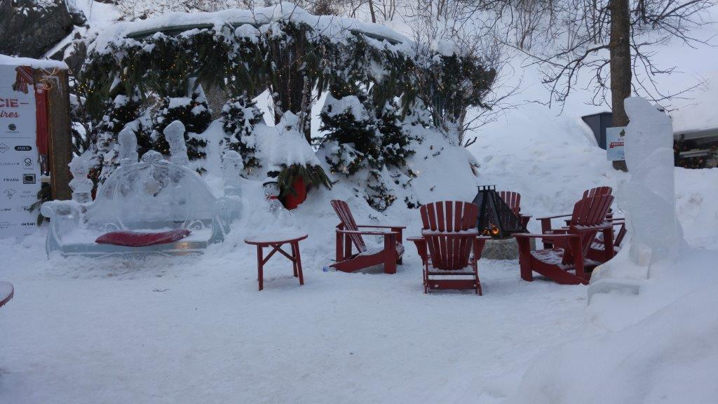 Lounging at the Winter Carnival, Quebec City